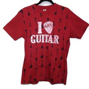 🍁 CLOCK HOUSE I Rock Guitar Graphic Tshirt Top